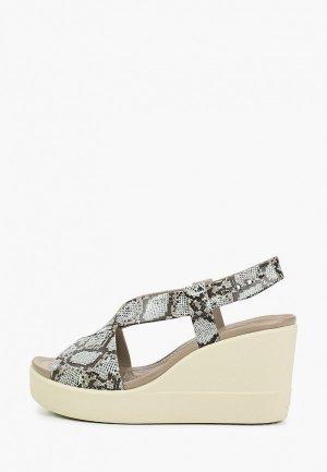 Босоножки Crocs Brooklyn High Wedge W. Цвет: серый
