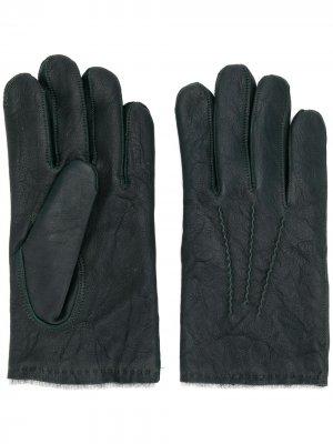 Перчатки с декоративной строчкой Orciani. Цвет: зеленый
