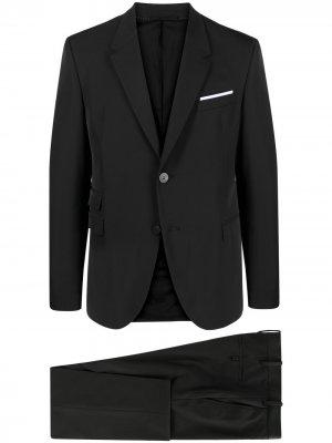 Костюм с однобортным пиджаком и укороченными брюками Neil Barrett. Цвет: черный