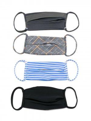 Комплект из четырех масок Amir Slama. Цвет: разноцветный