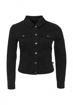 Куртка джинсовая s.Oliver Denim. Цвет: черный