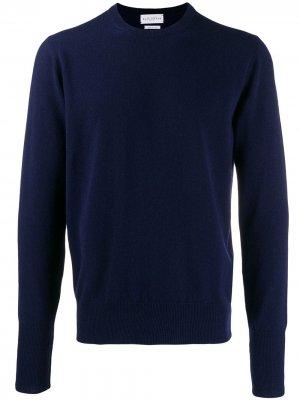 Кашемировый свитер с круглым вырезом Ballantyne. Цвет: синий