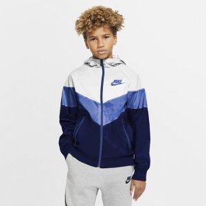 Куртка для школьников Sportswear Windrunner - Белый Nike