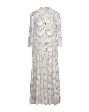 Длинное платье ALYSI. Цвет: белый