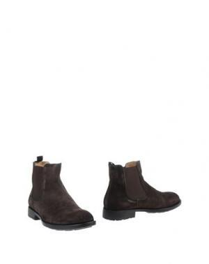 Полусапоги и высокие ботинки HENNE. Цвет: темно-коричневый