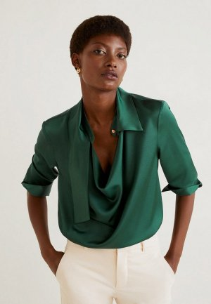 Блуза Mango - SOFIA-A. Цвет: зеленый