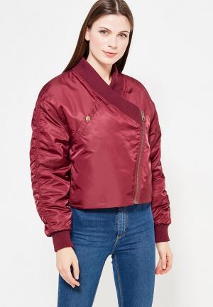 Куртка утепленная Cheap Monday. Цвет: бордовый