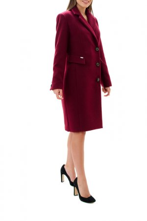 Coat RADEKS. Цвет: burgundy
