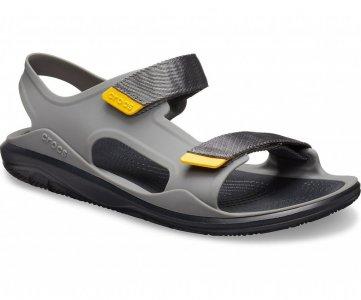 Сандалии мужские CROCS Mens Swiftwater™ Expedition Sandal Slate Grey/Black арт. 206526. Цвет: slate grey/black