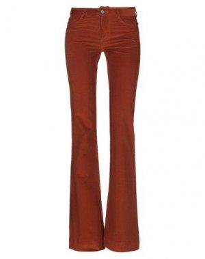 Повседневные брюки BAND OF OUTSIDERS. Цвет: ржаво-коричневый
