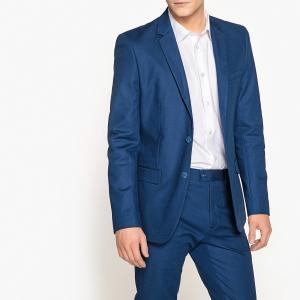 Пиджак костюмный зауженный La Redoute Collections. Цвет: синий