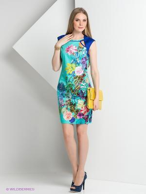 Платье BOVONA. Цвет: бирюзовый, горчичный, розовый, синий, фиолетовый