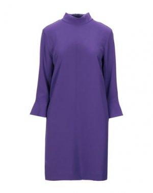 Короткое платье COMPAGNIA ITALIANA. Цвет: фиолетовый