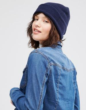 Кашемировая шапка Johnstons. Цвет: темно-синий