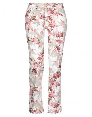 Повседневные брюки BOSS HUGO. Цвет: белый