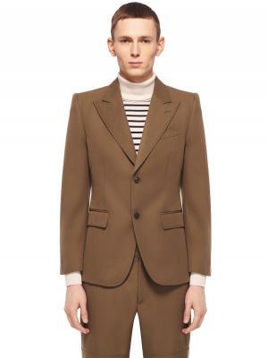 Монохромный пиджак на пуговицах MARC JACOBS. Цвет: хаки