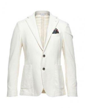 Пиджак MANUEL RITZ. Цвет: слоновая кость