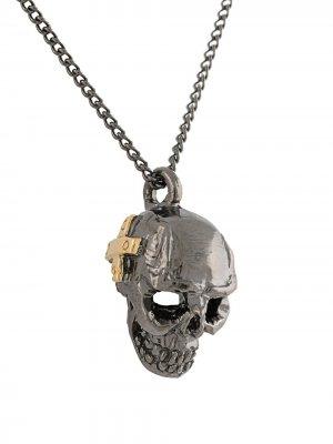 Серебряное колье Hear No Evil Duffy Jewellery. Цвет: черный