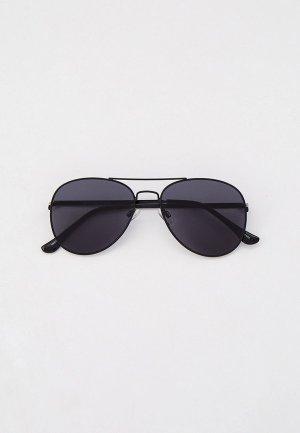 Очки солнцезащитные Selected Homme. Цвет: черный