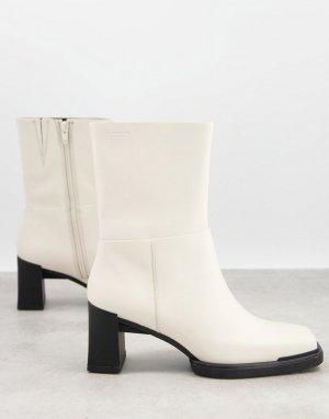 Кремовые ботинки на среднем каблуке Edwina-Белый Vagabond