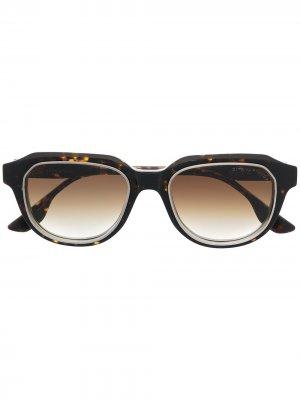 Очки в оправе черепаховой расцветки Dita Eyewear. Цвет: коричневый