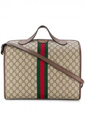 Дорожная сумка с узором GG Gucci. Цвет: нейтральные цвета