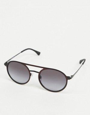 Солнцезащитные очки-авиаторы -Черный цвет Emporio Armani