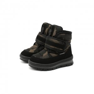 Текстильные ботинки Jog Dog. Цвет: хаки