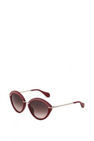 Очки солнцезащитные Blumarine. Цвет: красный