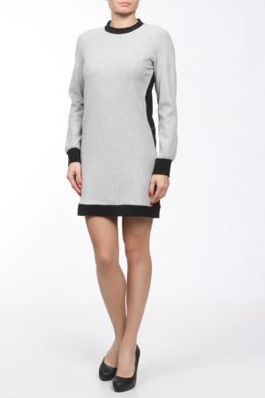 Платье C.H.I.C.. Цвет: черно-серый