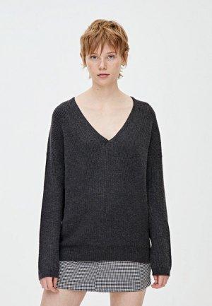 Пуловер Pull&Bear. Цвет: серый