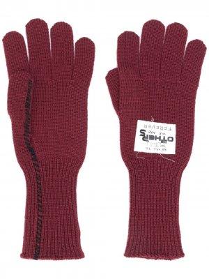 Вязаные перчатки Raf Simons. Цвет: красный