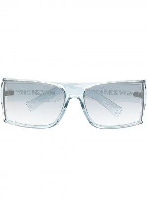 Солнцезащитные очки в квадратной оправе Givenchy Eyewear. Цвет: синий