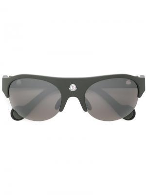 Солнцезащитные очки с утолщенной оправой Moncler Eyewear. Цвет: зелёный