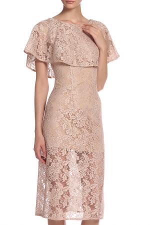Платье IQDRESS. Цвет: бежевый