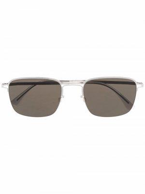 Солнцезащитные очки-авиаторы в квадратной оправе MYKITA+MAISON MARGIELA. Цвет: серебристый
