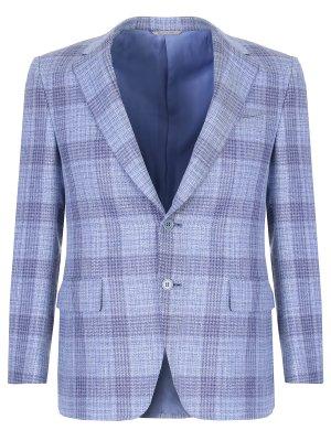 Пиджак классический CANALI. Цвет: голубой