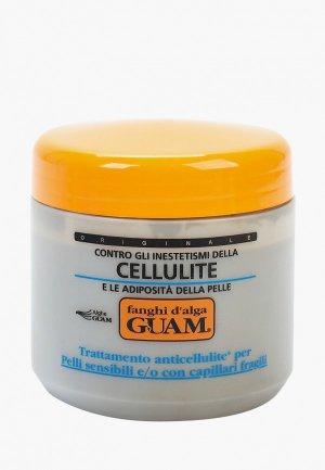 Маска для тела Guam антицеллюлитная чувствительной кожи с хрупкими капиллярами, Линия FANGHI D ALGA, 500 г.. Цвет: белый