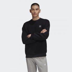 Флисовый свитшот Adicolor Originals adidas. Цвет: черный