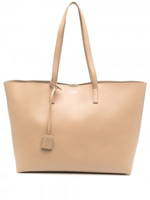 Большая сумка-тоут Shopping Saint Laurent. Цвет: нейтральные цвета