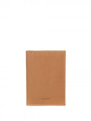 Складной кошелек Mismo. Цвет: коричневый
