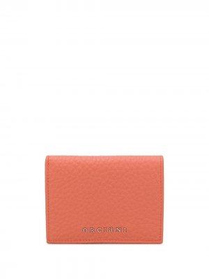 Бумажник с логотипом Orciani. Цвет: оранжевый