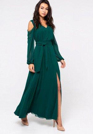 Платье Eva. Цвет: зеленый
