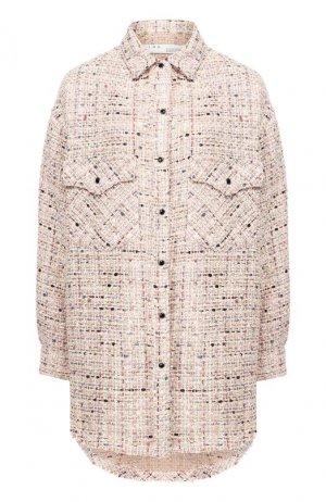 Твидовая рубашка Iro. Цвет: светло-розовый
