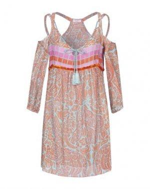 Короткое платье PIN UP STARS. Цвет: оранжевый