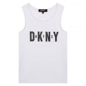 Хлопковая майка DKNY. Цвет: белый