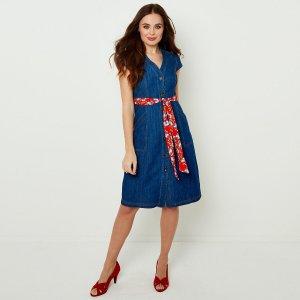Платье La Redoute. Цвет: синий