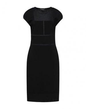 Платье миди SALVATORE FERRAGAMO. Цвет: черный