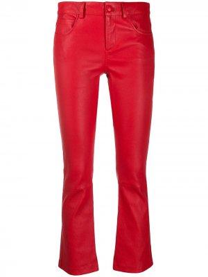 Укороченные расклешенные брюки Amen. Цвет: красный