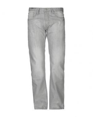 Джинсовые брюки INDICODE. Цвет: серый